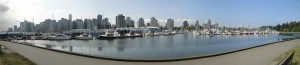 Panorama Vancouver from the yacht harbour